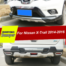 Front and Rear Bumper For Nissan X-Trail 2014 2016 Diffuser Bumpers Lip Protector side skirts for X trail