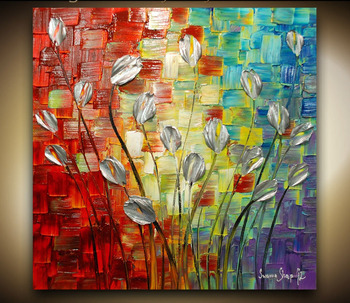 Hand Painted Oil Paintings Modern Abstract Heavy Textured Canvas Art Oil Painting Knife Wall Art Home Decorations