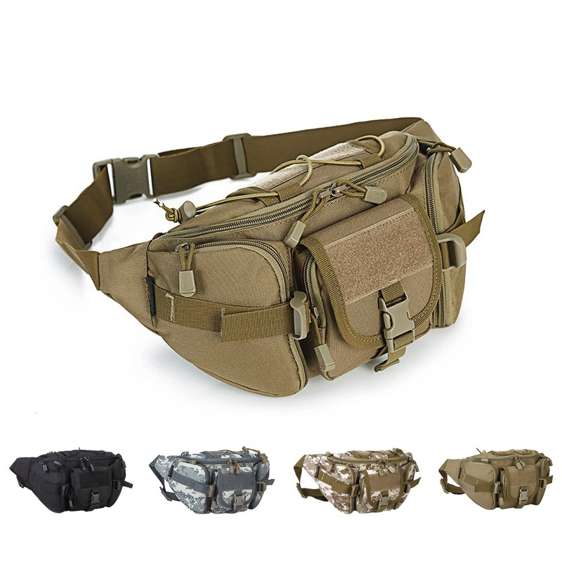 Outdoor Tactical Camouflage Sports Waist Pack Men And Women Casual Mountain Climbing Multi-functional Wallet Fishing Mobile Phon