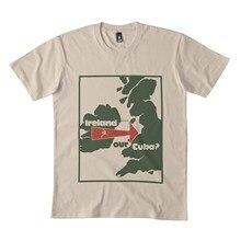 Irlanda nossa cuba clássico t camisa 173dmn cuello redondo sudadera negro