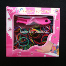 Mix 10 Colors Rubber Loom Bands Box Set DIY Bracelets (300 bands + 1 Y Shape Mini 12 s-clips hook)