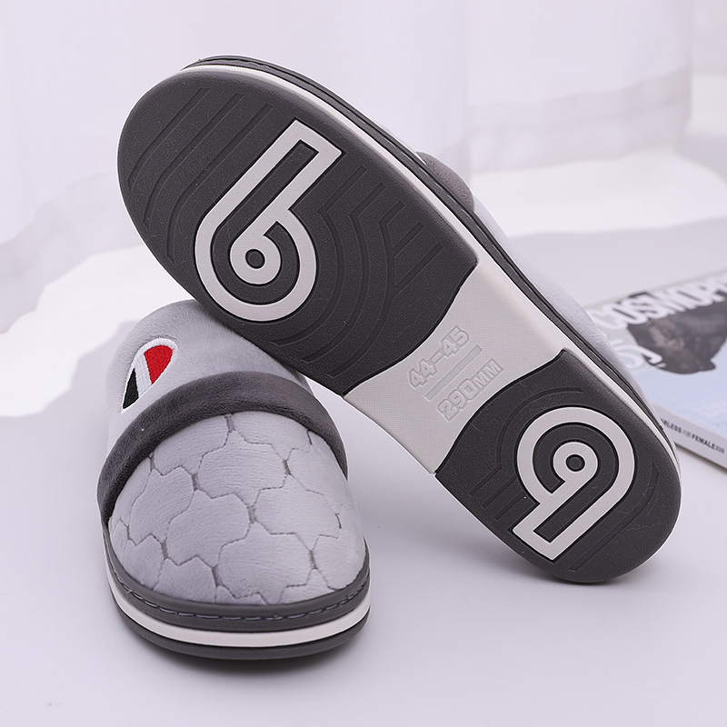 Warm Slippers Men's Indoor Shoes Plush Slipper Male Winter House Shoes Big Size 49/50 Bathroom Slippers Zapatos Hombre