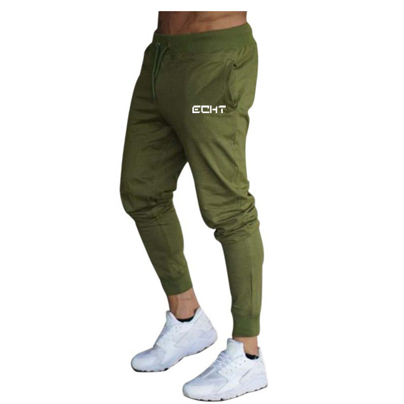 Men's Cotton Pants Male Bound Feet Motion Leisure Trousers Active Elastic Hip Hop Slim Joggers Sweatpants Drawstring Trousers