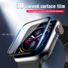 Für Apple Uhr Screen Protector für iwatch 6 5 4 3 2 1 SE Klar Volle Schutz Film PET Nicht gehärtetem Glas 38mm 40mm 42mm 44mm