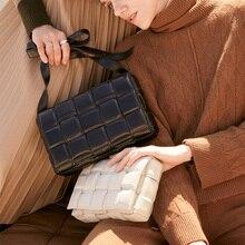 Weaving font b Luxury b font font b Handbags b font Pillow Bag Padded Cassette Genuine