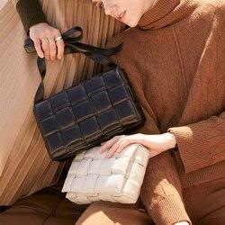 Weven Luxe Handtassen Kussen Tas Gewatteerde Cassette Echt Leer Een Schouder Designer Tassen Beroemde Merk Vrouwen Zakken 2020