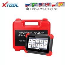Xtool X100 Pad Key Programmeur Professionele OBD2 Auto Scanner Diagnostic Tool Kilometerteller Aanpassing Update Online Code Reader Epb