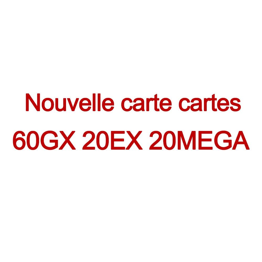 Новинка TOMY 100 шт французские Карты Покемон с 60 GX 20 EX 20 MEGA - Цвет: 60GX 20EX 20MEGA