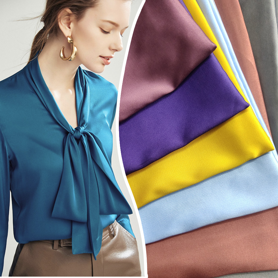 Suffer, imitation silk fabric is used for dress dresses, shirt sewing fabric drape, breathable 25-1