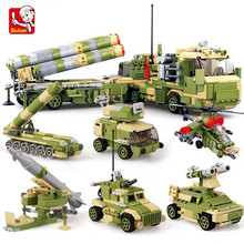 6Pcs/lot Military S400 MISSILE LAUNCHER Vehicle Truck Tank Armour Building Blocks Sets LegoINGs ARMY Bricks Playmobil Toys Gifts