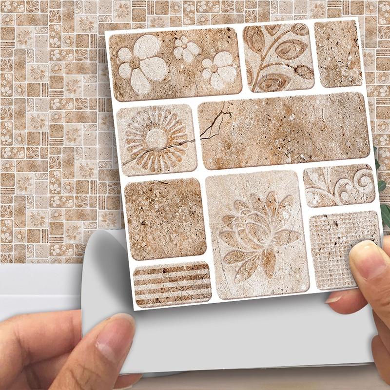 Boden und Wandaufkleber Squarex Selbstklebende Fliesen