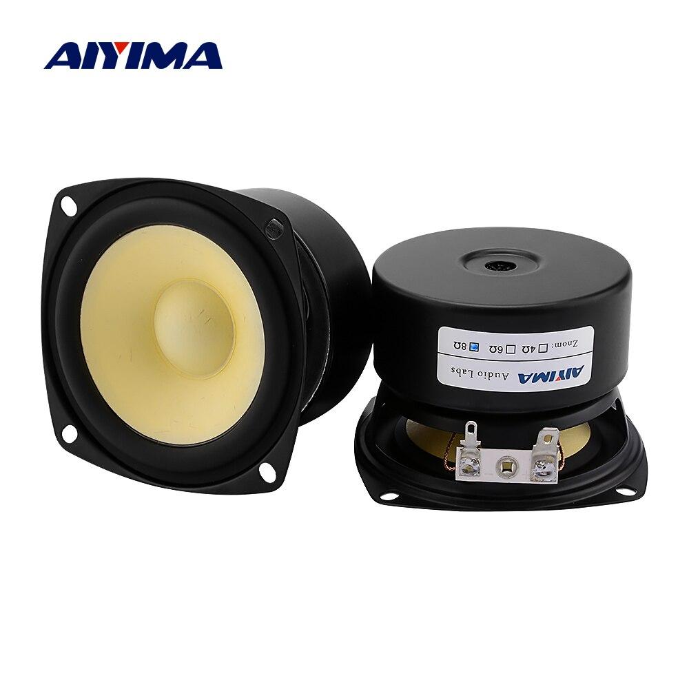 AIYIMA 2 uds. Altavoz de 3 pulgadas de rango completo 4 8 Ohm 15W unidades de altavoces de música de sonido DIY amplificador del hogar altavoz Home Theater