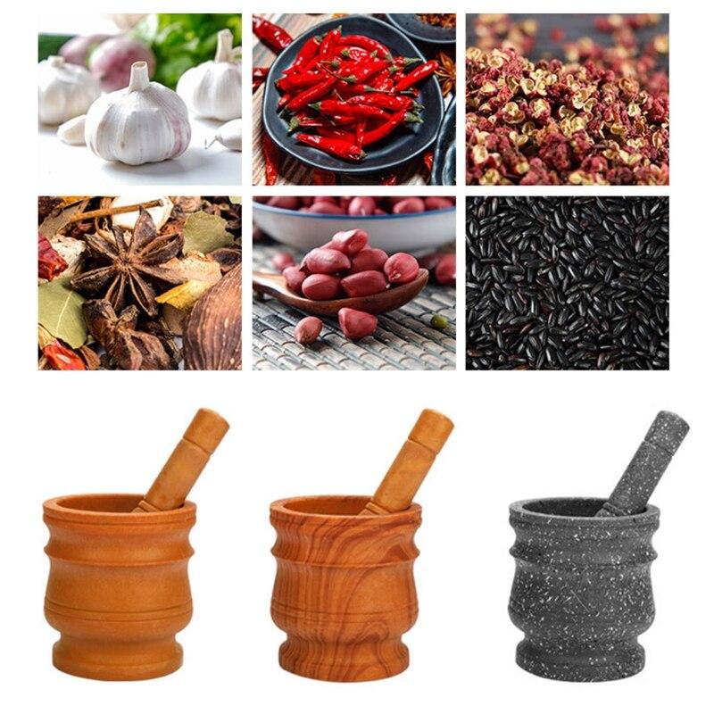 Mortar Pestle Tool Set 11 Cm Large Mortar Kitchen Herbs Spices Food Shreding Grinding Tool For DIY Sauce Making