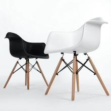 2Pcs/Set Dining Chairs Genuine Leather Leisurely Chairs Comforable Lounge Chairs Elegant Coffee Chairs Household Furniture HWC
