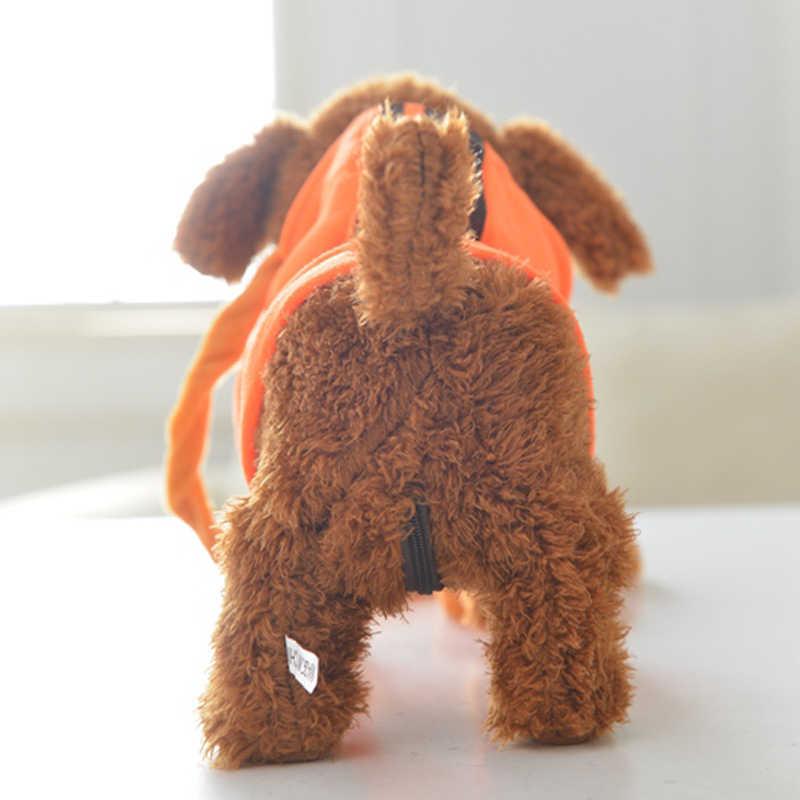 어린이 전기 장난감 개가 걷고 노래 할 수 있으며, usb 충전 전자 플러시 장난감 기계 개를 호출 할 수 있습니다