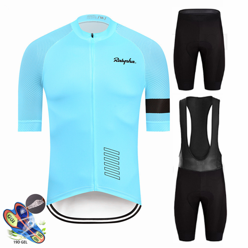 Pro Raphaful Cycling Jersey Short Sleeve Bicycle Clothing Kit Mtb Bike Wear Triathlon Uniforme Maillot Ciclismo Raiders Jersey
