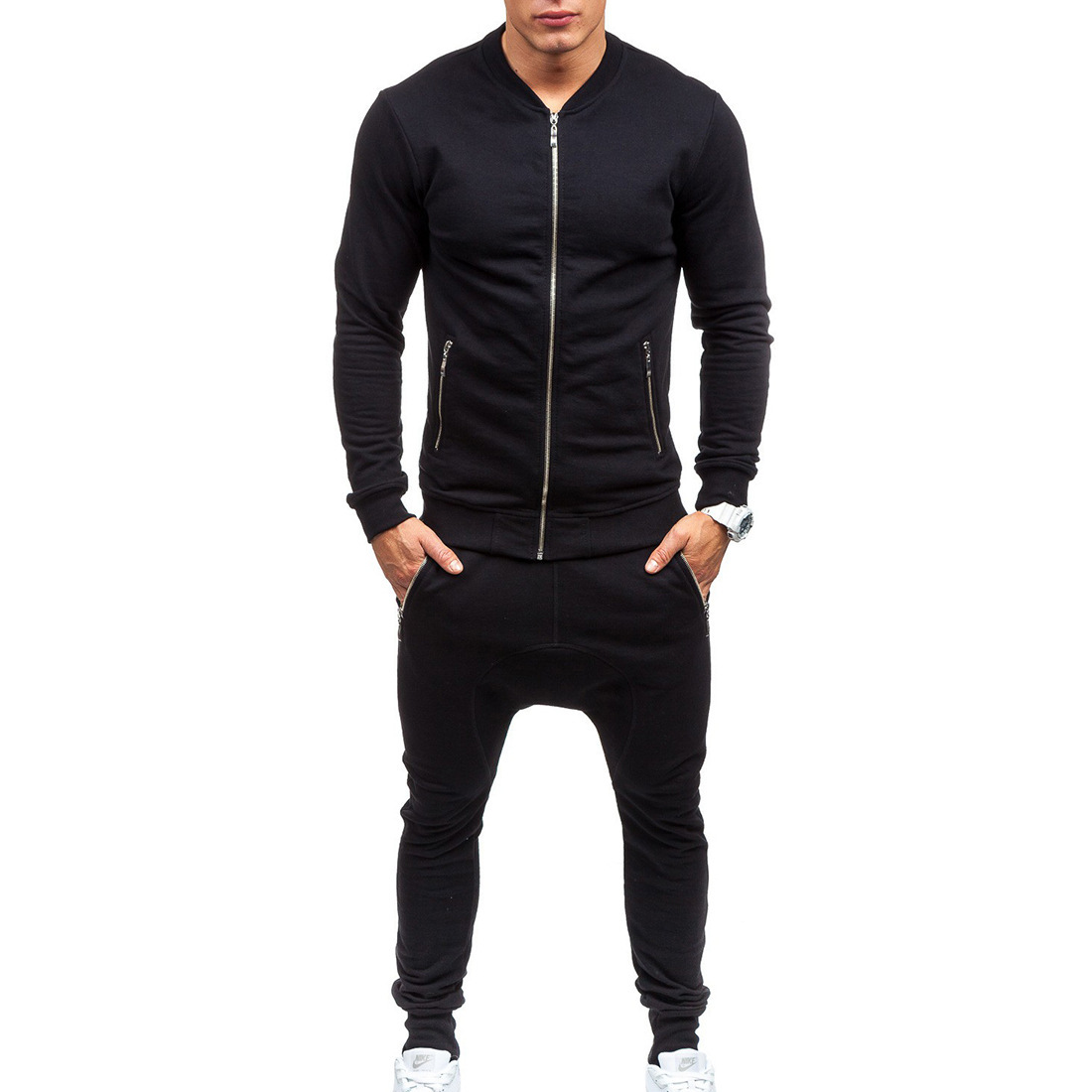 Supply Of Goods Men Casual Hoodie Suit Men's Outdoor Sports Clothing Ozhouzhan Large Size Baseball Uniform Set