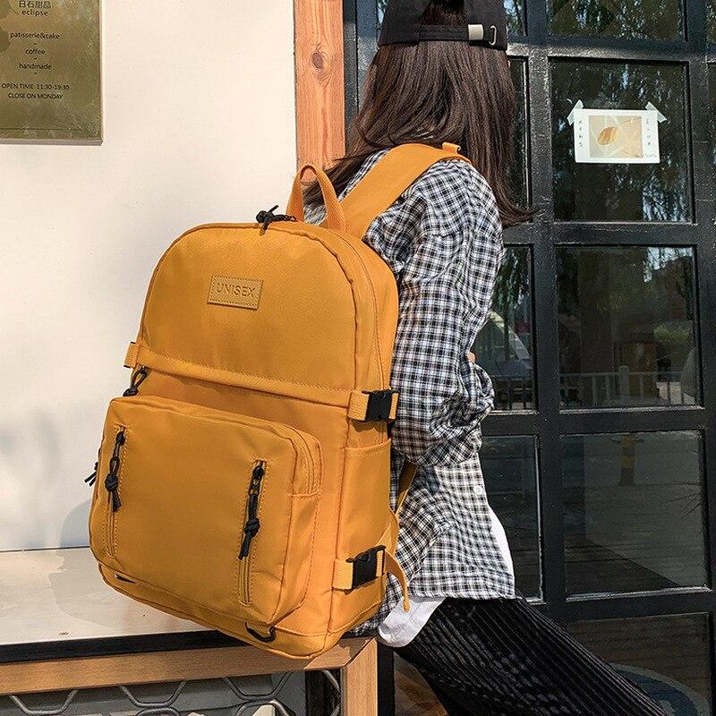 Teen Schoolbag Girls Backpacks Women Nylon Lightweight School Bags Female Student Teenage Bookbags College Style Campus Bagpack