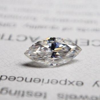 4*8mm marquise cut  VVS Moissanite Moissanite Stone Loose Moissanite Diamond 0.48 catart Moissanite