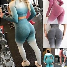 Women Yoga Pants Sports Leggings Gym Compression High Waist Tights Seamless Pants Stretchy Run Fitness Leggings Hip Push Up