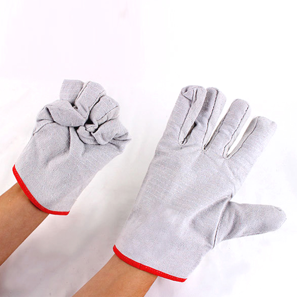 Protective Gloves Non Slip Safety Welding Unisex Thickened Construction Site Adult Canvas Wear Resistant Garden Working 24 Line