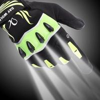 LED flashlight luminous fishing gloves breathable outdoor lighting luminous gloves