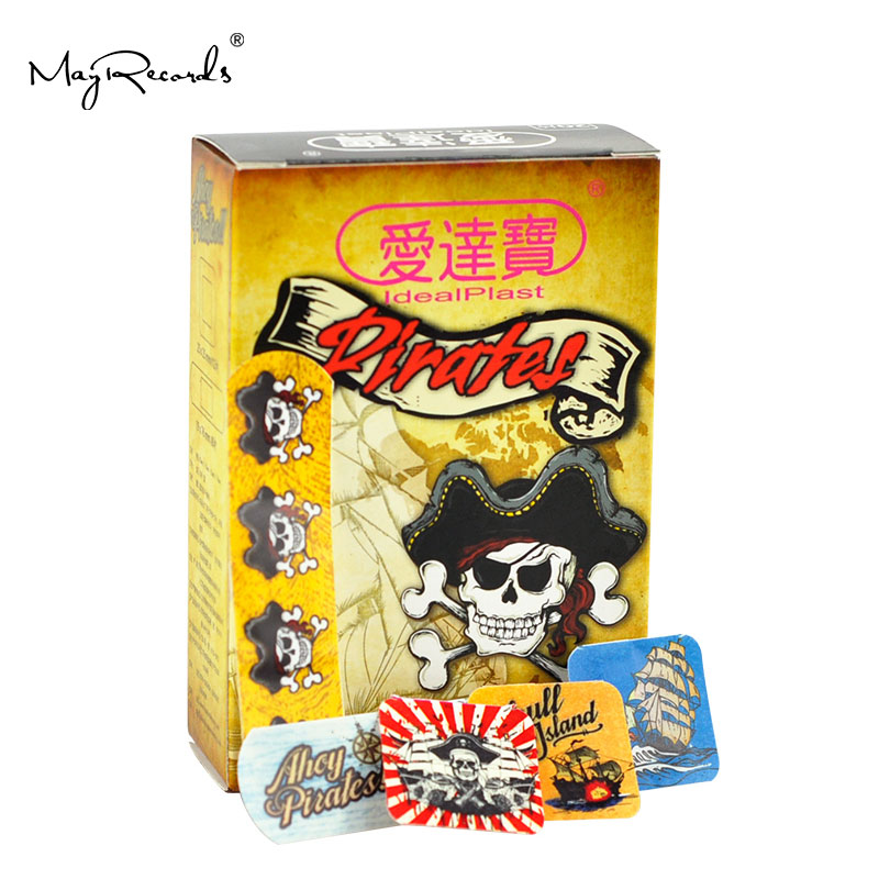 Free Shipping 60 PCs/3Boxes Assorted Waterproof Breathable Pirate Cartoon Adhesive Wound Bandage Hemostasis First Aid Band Aid
