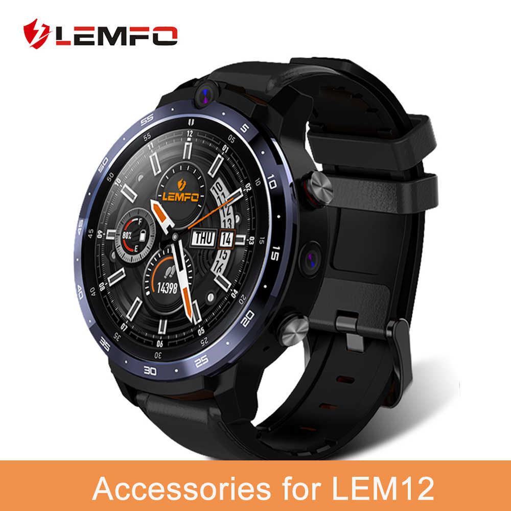 LEMFO, accesorios para reloj inteligente, Cable de carga, Protector de pantalla, Banco de energía para LEM12 LEM 12