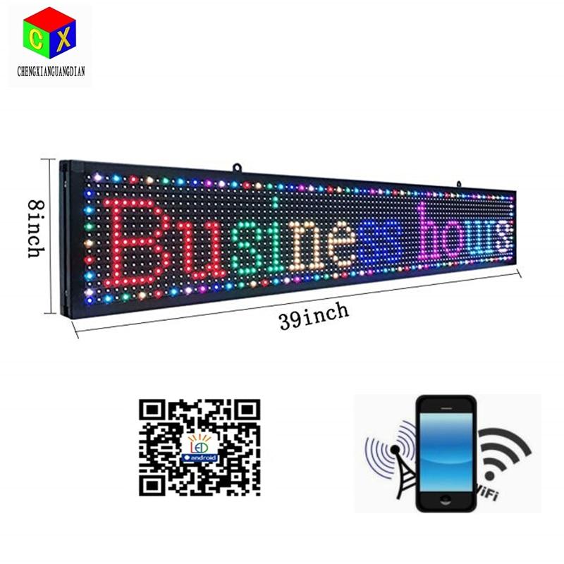 7-цветный комнатный светодиодный знак P10, программируемый, USB и Wi-Fi, катающийся информационный светодиодный дисплей
