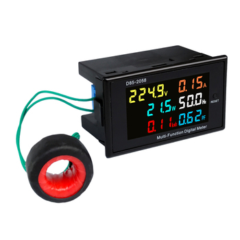LCD Digital Panel Wattmeter Energy Power Meter Voltage Voltmeter Current Ammeter Frequency Indicator AC 110V 220V 380V 100A ac digital display 100a power monitor voltmeter ammeter lcd voltage current watt power energy meter