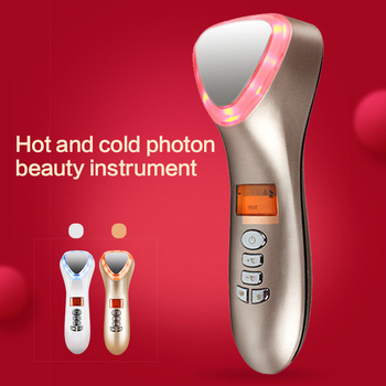 cold hot rf  face led light therapy facial microcurrent  lift machine face whitening device skin care tools skin care Massager portable ultrasonic facial massager face lift led therapy galvanic spa ion wrinkle remover face skin care beauty device