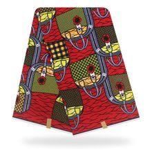 2021 cera Pagne verdadero Nigeria estampado de Ankara 6 yardas africanos verdadero Real cera Pagne verdadera Impresión de cera Material para costura de tela