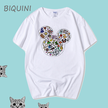 2020 New Mickey Printing T-Shirt Casual 100% Cotton Men T-shirts, Mens Summer T-shirts Harajuku Shirt Boyfriend Gift TShirt