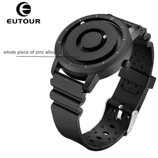 EUTOUR New Innovative Blue Gold Magnetic Metal Multifunctional Watch Men's Fashion Sports Quartz Watch Simple Men's Watch 1