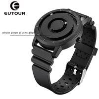 EUTOUR nowy innowacyjny turkusowo złota magnetyczny metalowy wielofunkcyjny zegarek moda męska sportowy zegarek kwarcowy prosty męski zegarek w Zegarki kwarcowe od Zegarki na