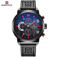 NAVIFORCE Casual Sport Watches Men Top Brand Luxury Military Leather Wrist Watch Male Business Quartz Clock Relogio Masculino naviforce men watch date week sport mens watches top brand luxury military army business leather band quartz male clock