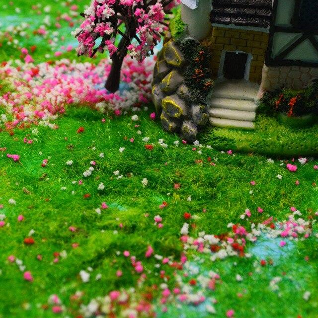 3mm Static Grass Powder Turf Flocking Nylon Toy Model Scene Making 60G Six-Color / Monochrome Diorama Sand Table Layout 6