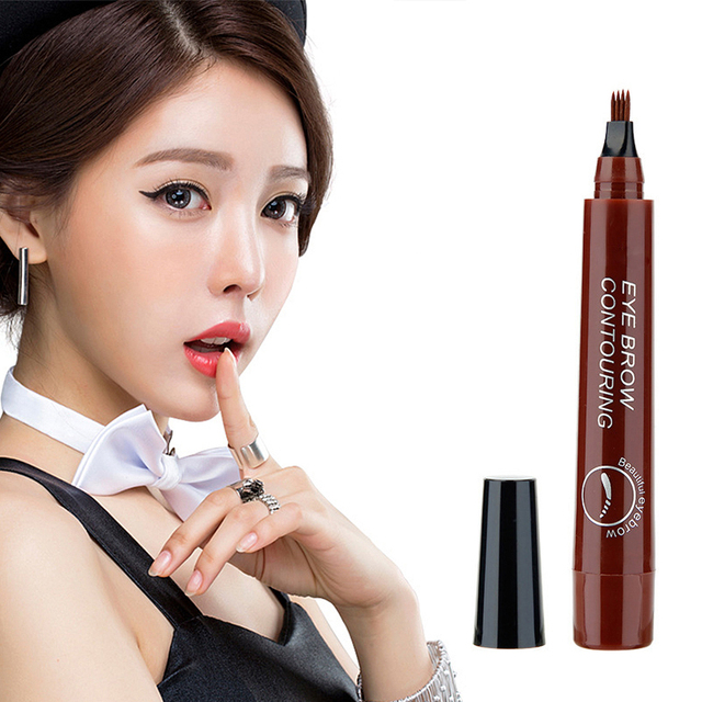 Eyebrow Enhancer With Stencil Eyes Natural Long Lasting Paint Make Up Tools Cosmetics Waterproof Black Eyebrow Pencil TSLM1 1