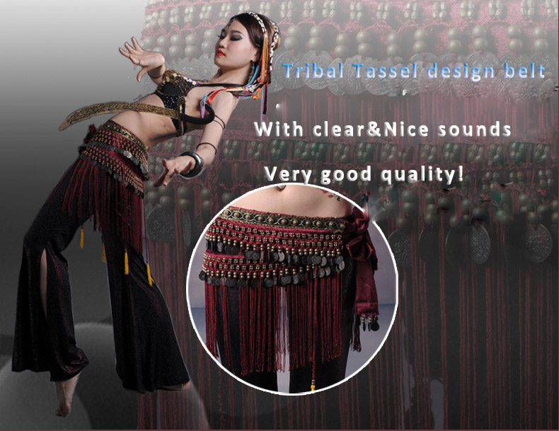 2020 Us Nueva Danza Del Vientre Cadera Bufanda Moneda Cinturón Tribal Traje Flecos Borla Cinturón Cobre Danza Del Vientre Cinturón A La Venta Danza Del Vientre Aliexpress