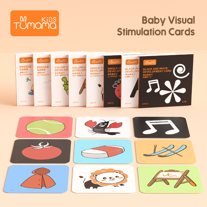 TUMAMA Visual Stimulation Pocket Flashcards For 0-36 Months Newborn Learning Card Toys Children Early Educational Cognize Card