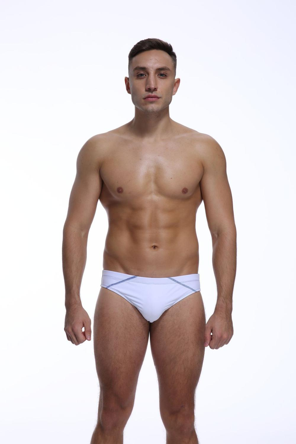 Men's underwear men's low-waisted sexy briefs wide edge solid cotton U protruding briefs cotton underwear