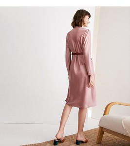 Image 5 - גבוהה כיתה אצטט סאטן שמלת אלגנטי הזדקנות ורוד