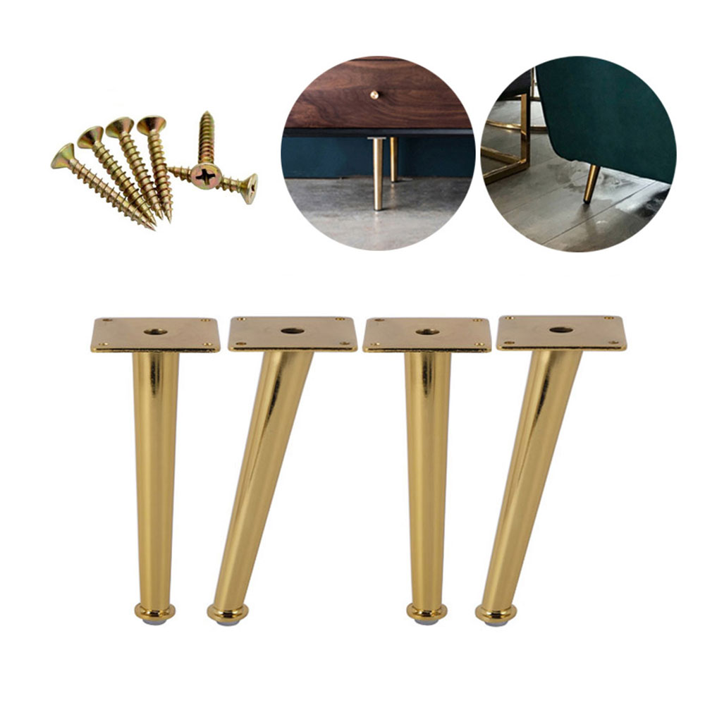 20CM Height Metal Furniture Legs Table Cabinet Golden Furniture Feet Diagonal Side Bracing Legs