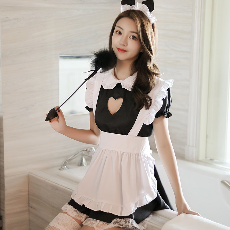 Sexy Body Dress Japanese Maid Cosplay Uniform Attendant Temptation High Quality Erotic Costumes Lingerie For Party Role Play