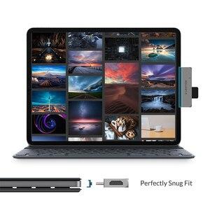Image 3 - USB C wielu Port koncentratora dla nowego ipada Pro 11/12.9, z 4K HDMI, USB 3.0, SD/karta Micro SD czytelników, dostarczania mocy i 3.5mm Aux
