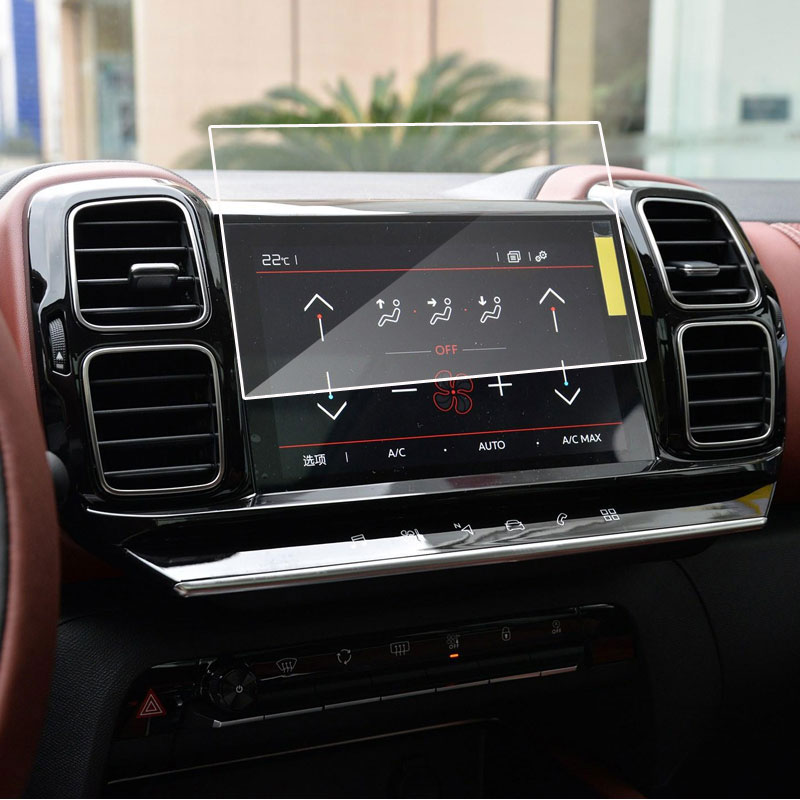 Car Navigation Tempered Glass Screen Protective Film For Citroen C5 Aircross 2019 2020 Radio DVD GPS LCD Screen Sticker