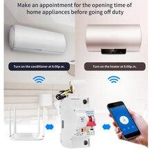 1P 16A Wifi Smart Stroomonderbreker Automatische Recloser Overbelasting En Kortsluiting Voor Amazon Alexa En Google Thuis