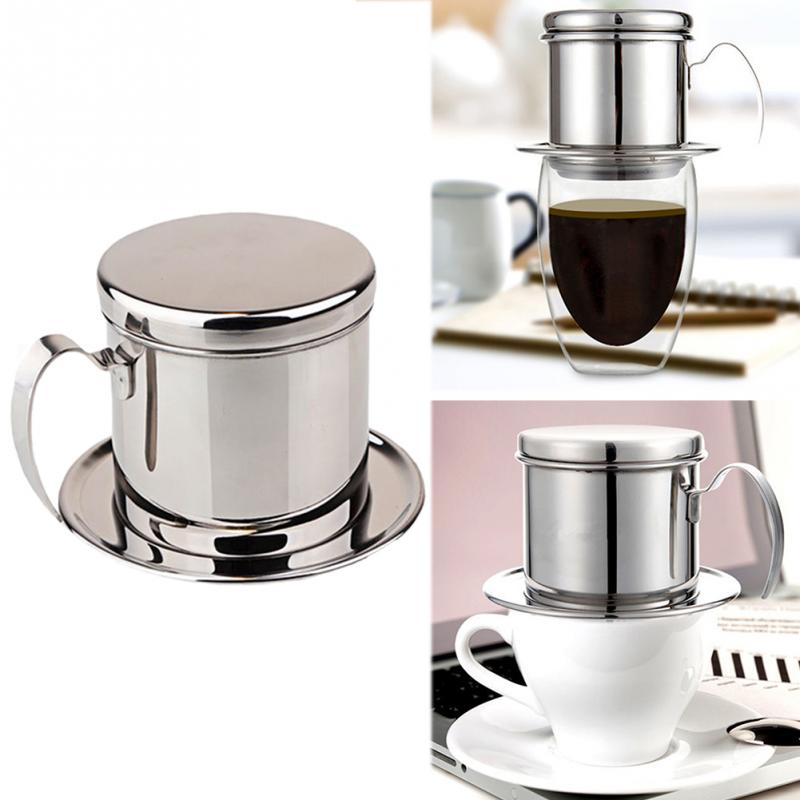 <font><b>Stainless</b></font> <font><b>Steel</b></font> <font><b>Vietnam</b></font> <font><b>Coffee</b></font> <font><b>Dripper</b></font> Reusable Filter <font><b>Vietnam</b></font> <font><b>Coffee</b></font> Drip Pot <font><b>Dripper</b></font> <font><b>Portable</b></font> <font><b>Coffee</b></font> Filter Cup image