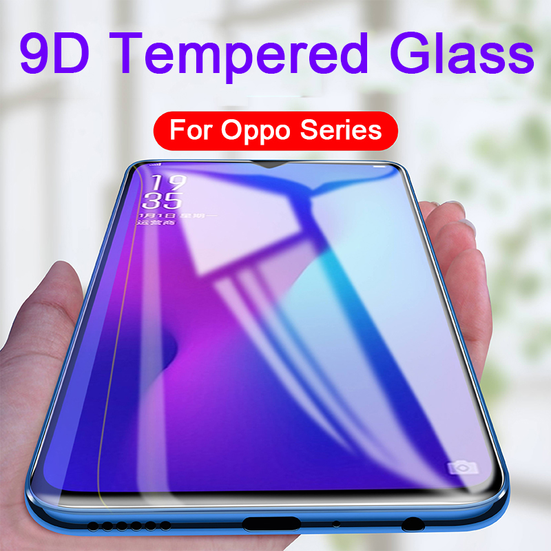 9D Tempered Glass on for Oppo Realme 1 2 3 C1 X A37 A3S A5 A5s A59 A7 A73 F1s F5 Youth <font><b>F7</b></font> F9 F11 Pro R15 Glass Screen Protector image