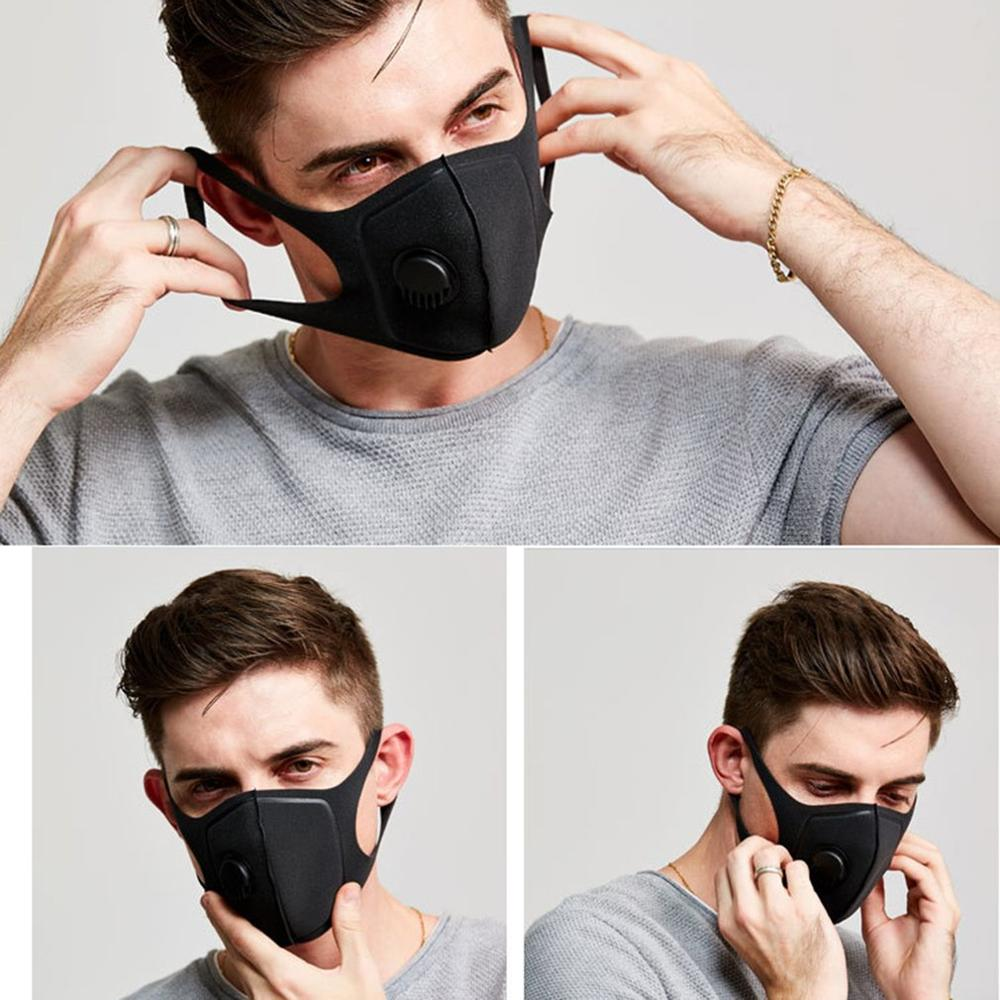 Waterproof Mask Universal Protective Mask With Breathing Valve Built-In Exhalation Valves Filtered Air Mask 1 Pcs